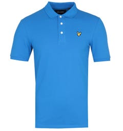 Lyle & Scott Slim Stretch Bright Cobalt Blue Polo Shirt