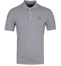 Lyle & Scott Slim Stretch Mid Grey Marl Polo Shirt