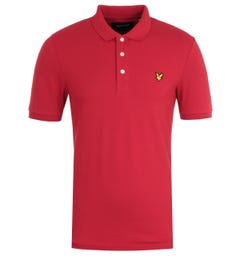 Lyle & Scott Chilli Pepper Red Slim Stretch Polo Shirt