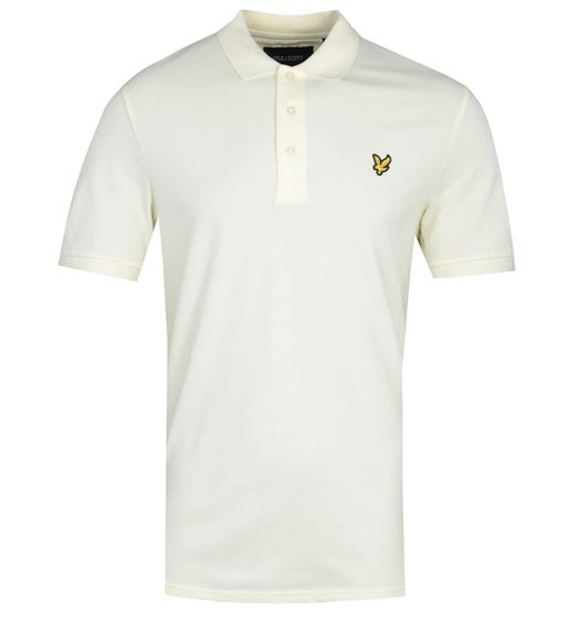 Lyle & Scott Slim Stretch Buttercream Polo Shirt