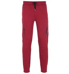 CP Company Diagonal Zip Red Tracksuit Bottoms