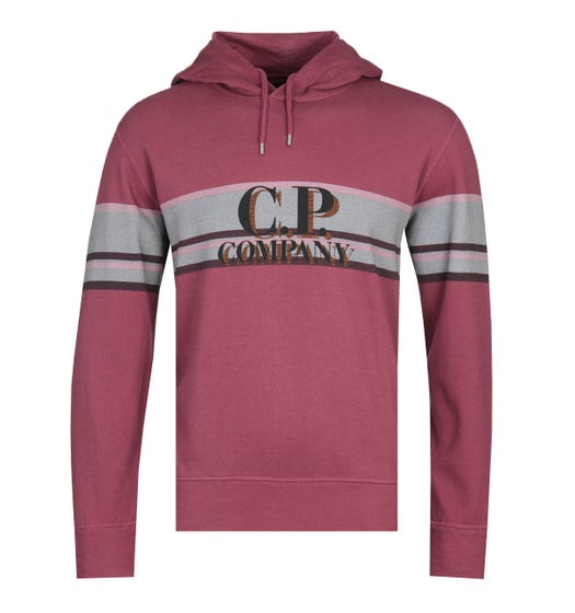 CP Company Sleeve Stripe Red Crew Neck Sweatshirt