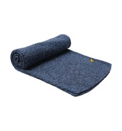 Lyle & Scott Mouline Navy Scarf