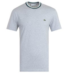 Lacoste Contrast Crew Neck Grey T-Shirt