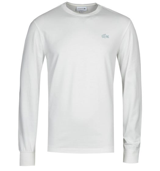 Lacoste Homme White Long Sleeve T-Shirt