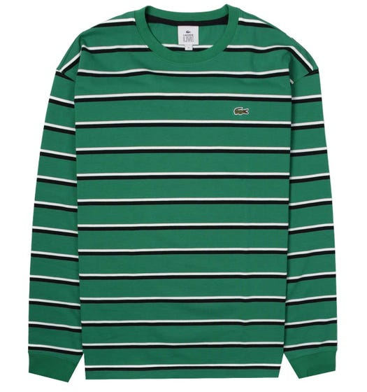 Lacoste Block Stripe Green Sweatshirt