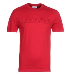 Lacoste Homme Red Logo T-shirt