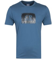 CP Company Large Logo Blue T-Shirt
