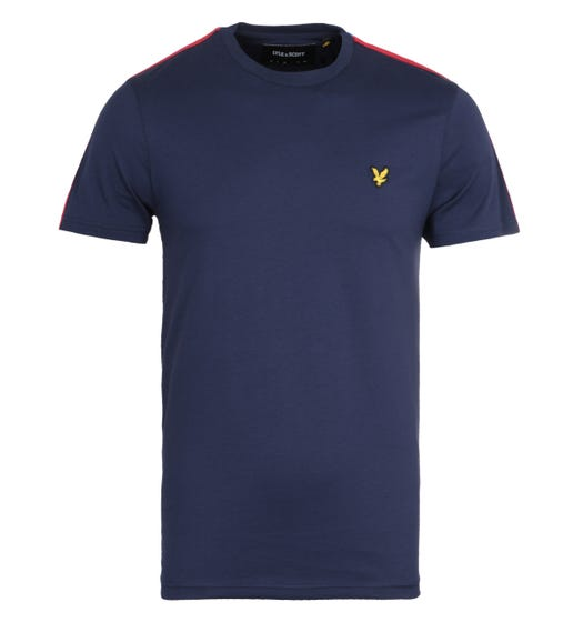 Lyle & Scott Taped Navy & Red T-Shirt