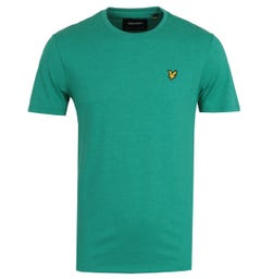 Lyle & Scott Aqua Salt Marl Short Sleeve T-Shirt