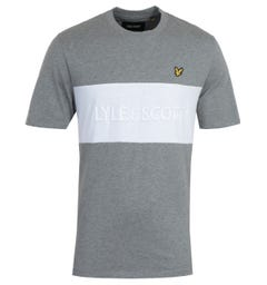 Lyle & Scott Mid Grey Marl Colourblock T-Shirt