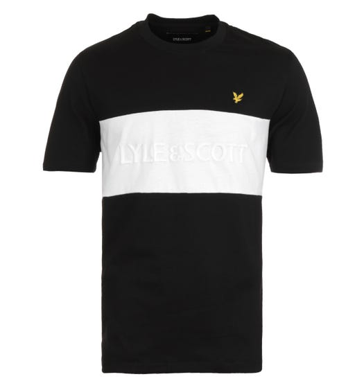 Lyle & Scott Jet Black Colourblock T-Shirt