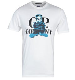 CP Company Graphic Print White T-Shirt