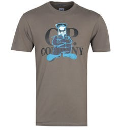 CP Company Graphic Print Olive T-Shirt