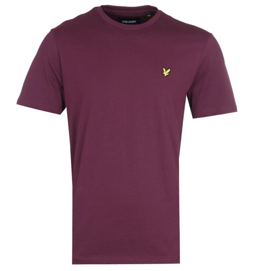 Lyle & Scott Crew Neck Short Sleeve T-Shirt - Burgundy