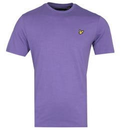 Lyle & Scott Crew Neck Short Sleeve Violet T-Shirt