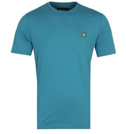 Lyle & Scott Crew Neck Short Sleeve Petrol Teal T-Shirt