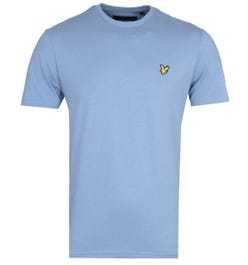 Lyle & Scott Crew Neck Short Sleeve Stone Blue T-Shirt