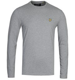 Lyle & Scott Grey Marl Long Sleeve T-Shirt