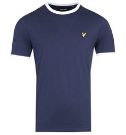 Lyle & Scott Navy & White Ringer T-Shirt