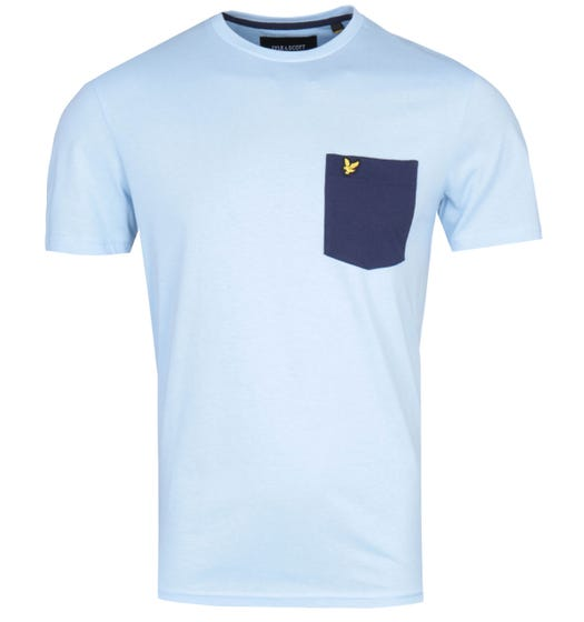 Lyle & Scott Contrast Pocket Pool Blue T-Shirt