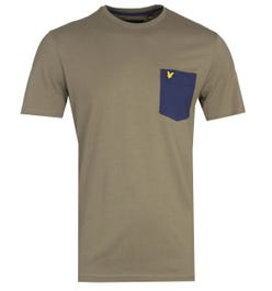Lyle & Scott Contrast Pocket Lichen Green T-Shirt