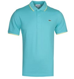 Lacoste Twin Tipped Light Blue MC Homme Polo Shirt
