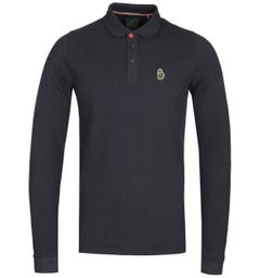 Luke 1977 Williams Long Sleeve Polo Shirt - Black