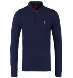 Luke 1977 Williams Long Sleeve Polo Shirt - Navy