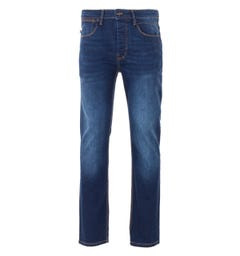 Luke 1977 Freddys Slim Straight Fit Jeans - Blue Black