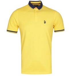 Luke 1977 Regular Fit Tipped Golden Harvest Polo Shirt