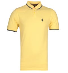 Luke 1977 Tipped Yellow & Navy Polo Shirt