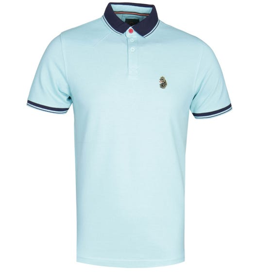 Luke 1977 Regular Fit Tipped Pure Sky Polo Shirt