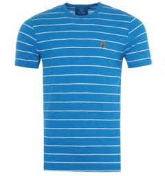 Luke 1977 Salinas Stripe Crew Neck T-Shirt - Royal & White
