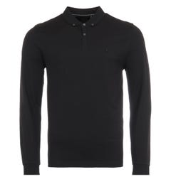 Luke 1977 Billiam Long Sleeve Polo Shirt - Black
