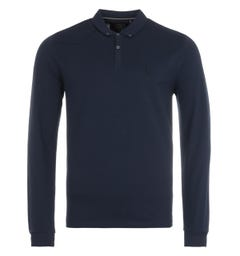 Luke 1977 Billiam Long Sleeve Polo Shirt - Navy