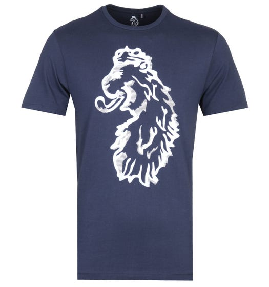 Luke 1977 Amazing Flocker Navy Printed T-Shirt