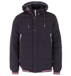 Luke 1977 Quinn Quilted Hooded Jacket - Black
