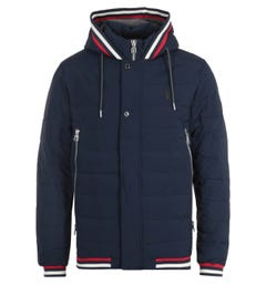 Luke 1977 Quinn Quilted Hooded Jacket - Dark Navy