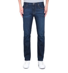 Emporio Armani Regular Tapered Mid Wash Blue Denim Jeans
