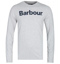 Barbour Roanoake Long Sleeve Tailored Fit Grey Marl T-Shirt