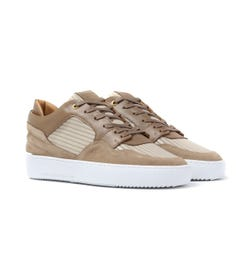 Android Homme White Leather Omega Low Trainers