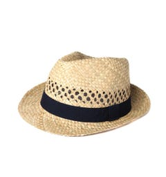 Hackett London Straw Trilby Hat