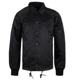 Diesel Satin Black Coach Jacket