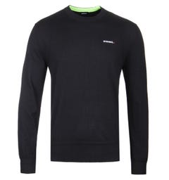 Diesel Laux Black Knit Sweater