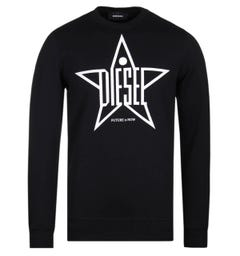 Diesel Star Logo Black Sweatshirt