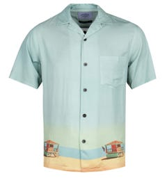 Portuguese Flannel Bay Watch Print Short Sleeve Shirt