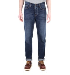 Nudie Jeans Sleepy Sixten Dark Stone Relaxed Fit Jeans