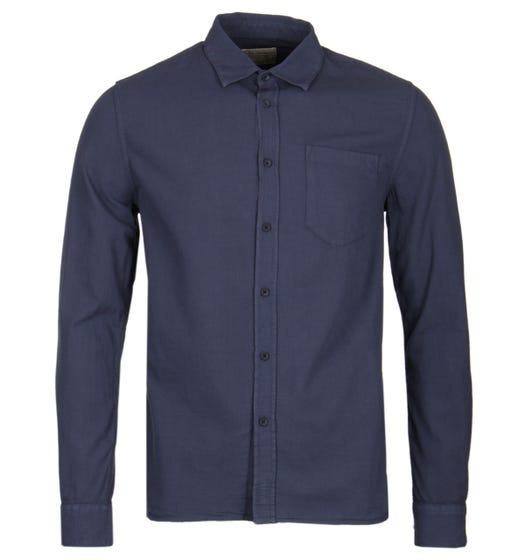 Nudie Jeans Henry Smoky Blue Garment Washed Shirt