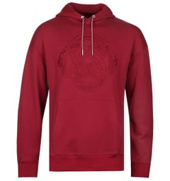 Armani Exchange Dragon Crest Red Hoodie